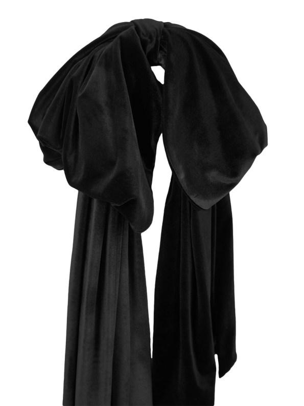 Erre Velvet Bow Black