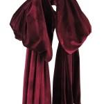 velvet bow scarf