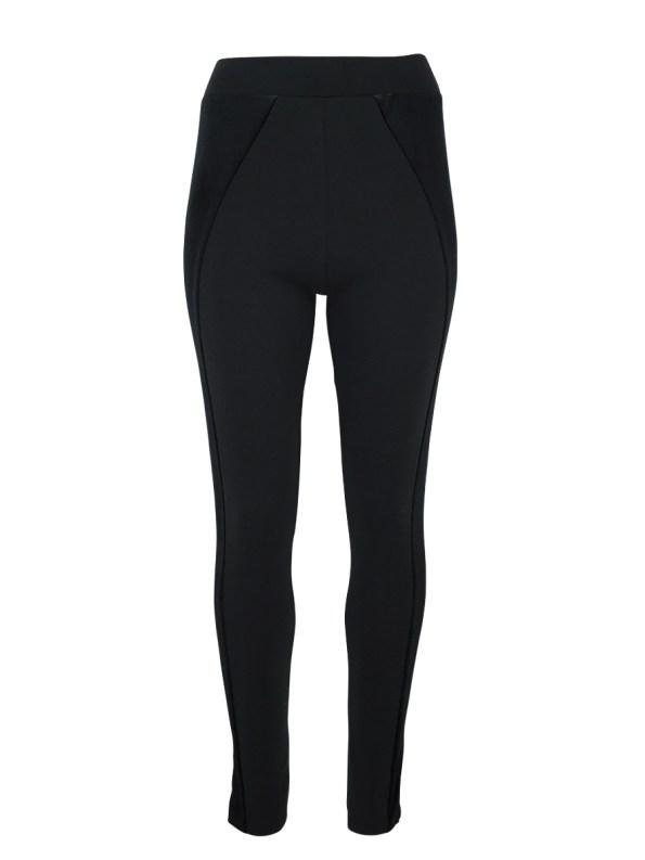 Erre Velvet Panel Leggings Black