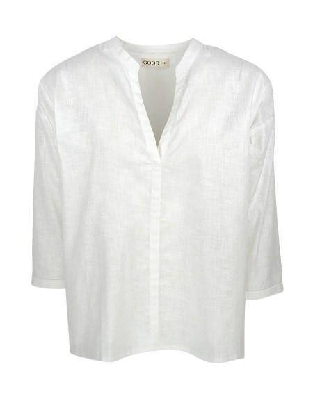 White cotton shirt ladies