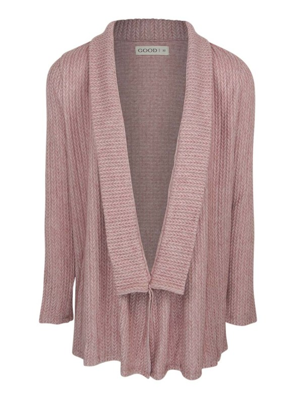 Good Cardigan Pink Cable