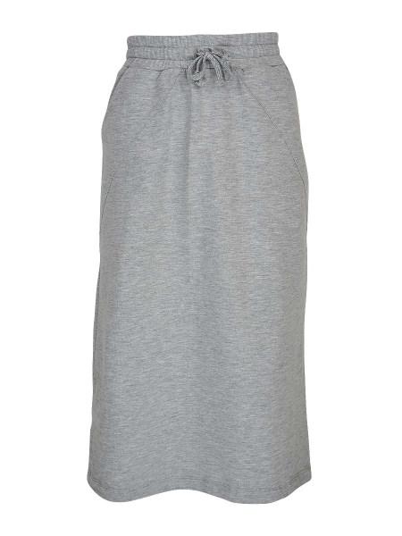 melange grey skirt