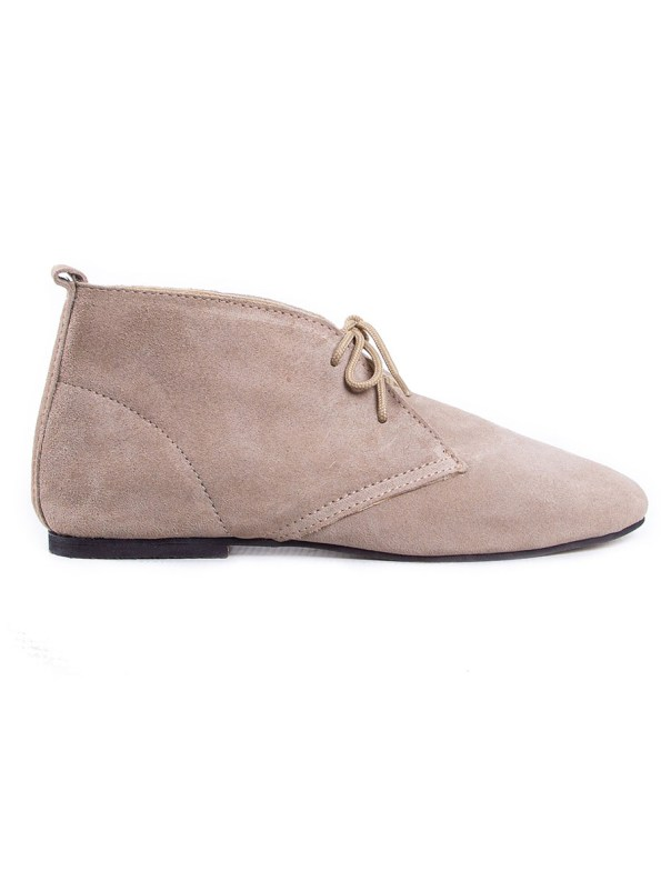 HoC Taylor Boots Stone Suede Side