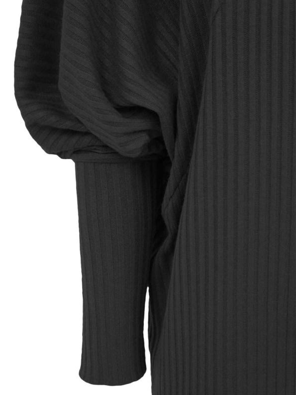 JMVB Knit Sweater Dress Black Detail