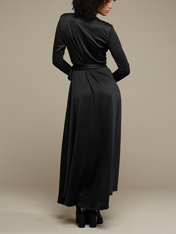 Mareth Colleen Jo Wrap Dress Black 3