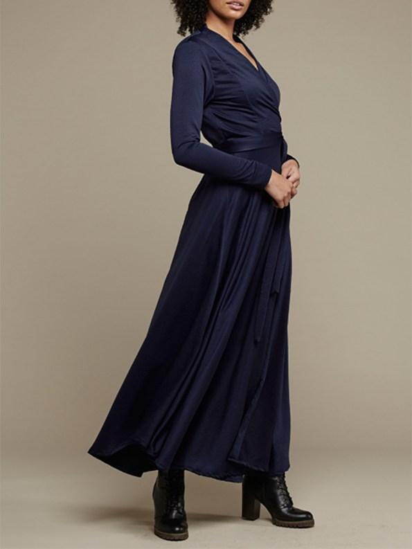 Mareth Colleen Jo Wrap Dress Navy 1