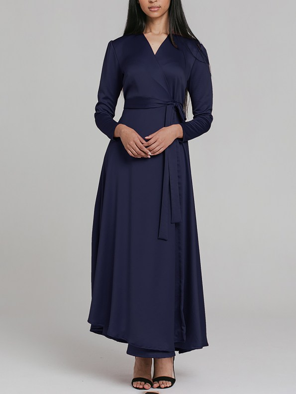 Mareth Colleen Meg Wrap Dress Navy 2