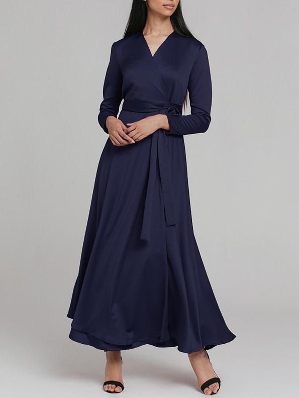 Mareth Colleen Meg Wrap Dress Navy 4 _SHPEN200