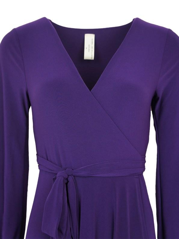 Isabel de Villiers Maxi Wrap Dress Purple Bodice