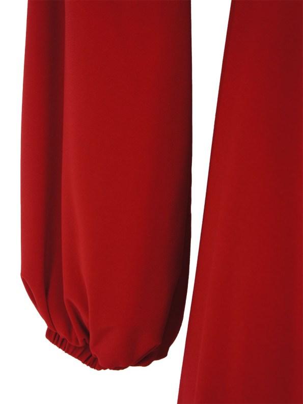 Isabel de Villiers Maxi Wrap Dress Red Detail