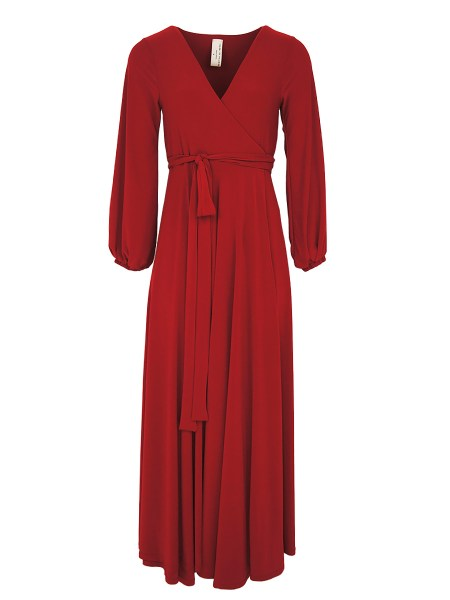 plus size red wrap dress