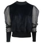 black velvet sweater top womens