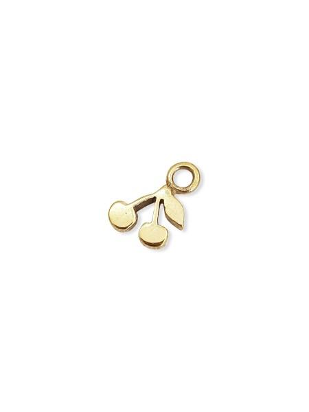 gold cherry charm