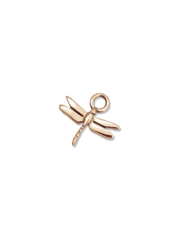 Kirsten Goss Dragonfly Huggie Charm Rose Gold