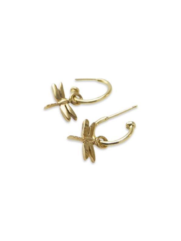 Kirsten Goss Dragonfly Huggies Gold