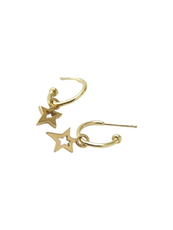 Kirsten Goss Huggie Lucky Star Gold