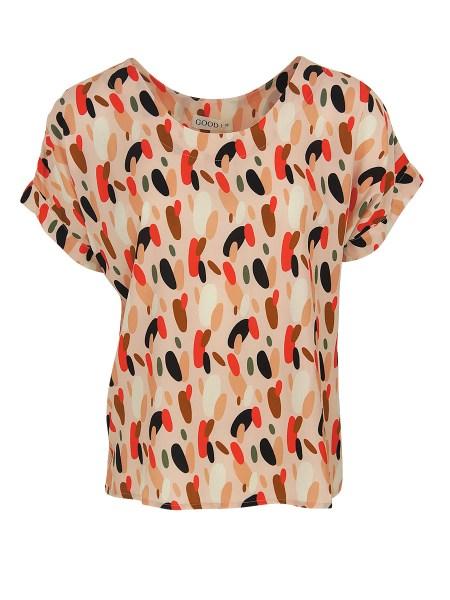 pink dots T-shirt womens