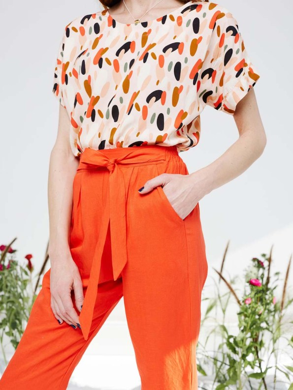 Good Marble Top and Ashley Pants Tangerine 4