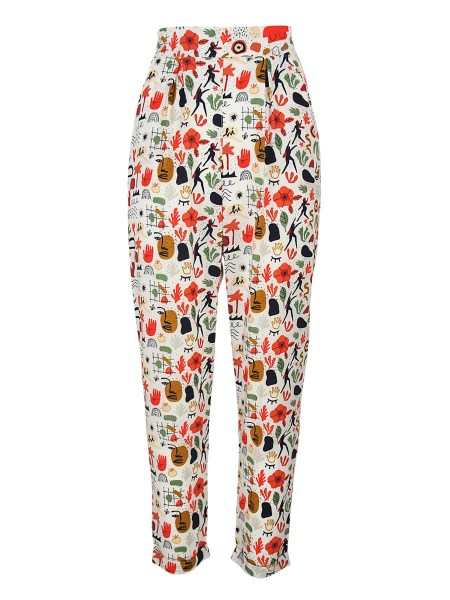 multi-coloured printed pants