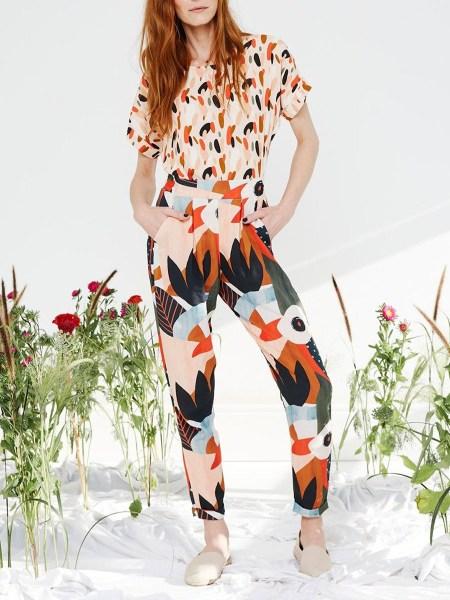 women's floral pants