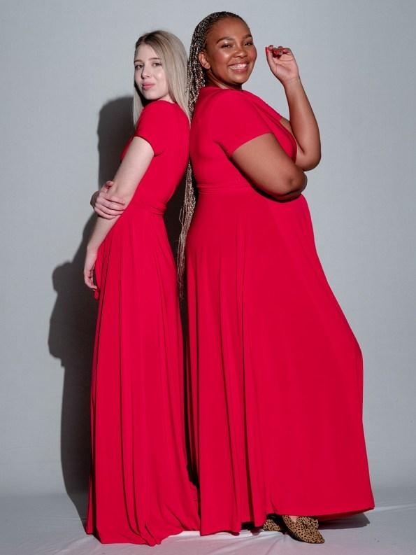 Isabel de Villiers Maxi Wrap Dress Red 2
