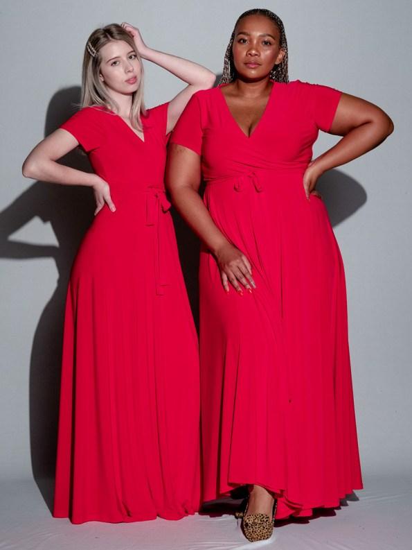 Isabel de Villiers Maxi Wrap Dress Red 3