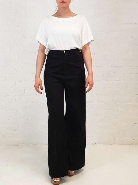 black flare jeans women