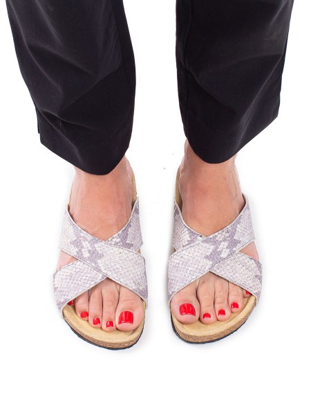 cream and grey shoes sandals