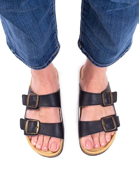 black health sandals