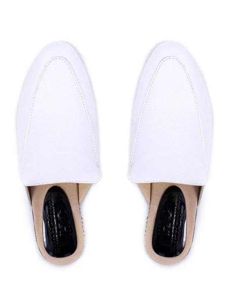 white slip in shoes