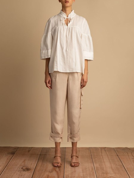 loose ivory top womens