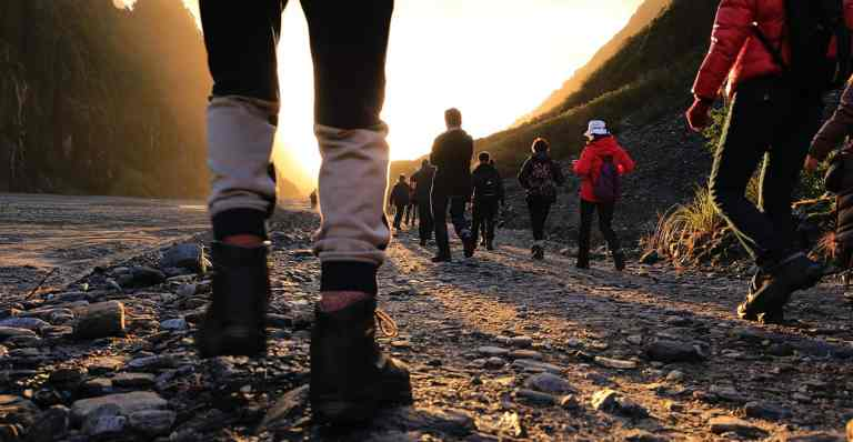 Wandelen Groep Bergen Lopen Bewegen Gezondheid Fitness Ontspanning Rust Stress Mindset