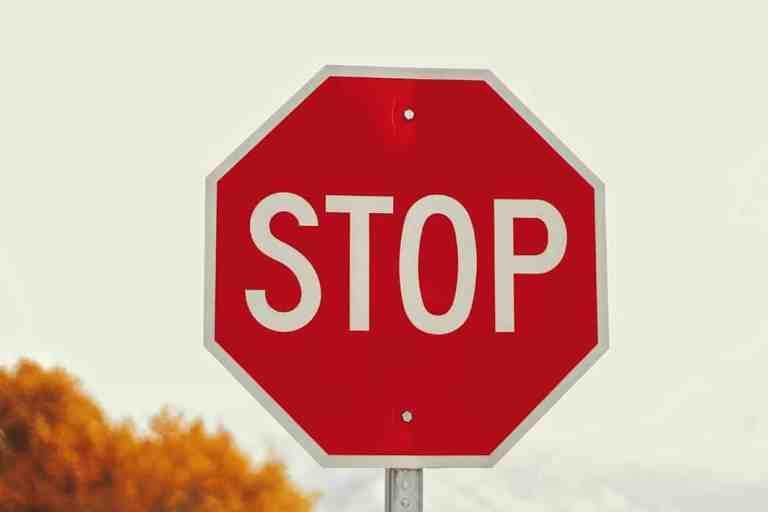 Stop Verkeersbord Parkeren Ophouden Stilte Stilstaan Verstillen Gedachten