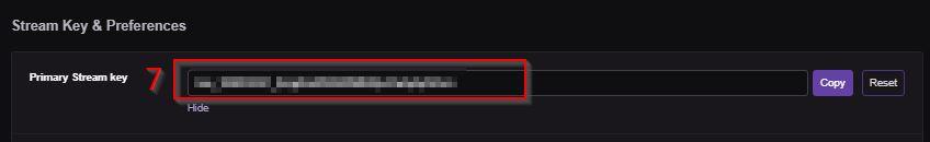 My Twitch Stream Key Twitch menu dashboard Stream Key example