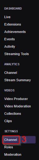 My Twitch Stream Key Dashboard Channel Settings