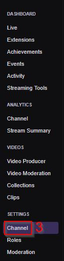 My Twitch Stream Key Dashboard Channel Settings