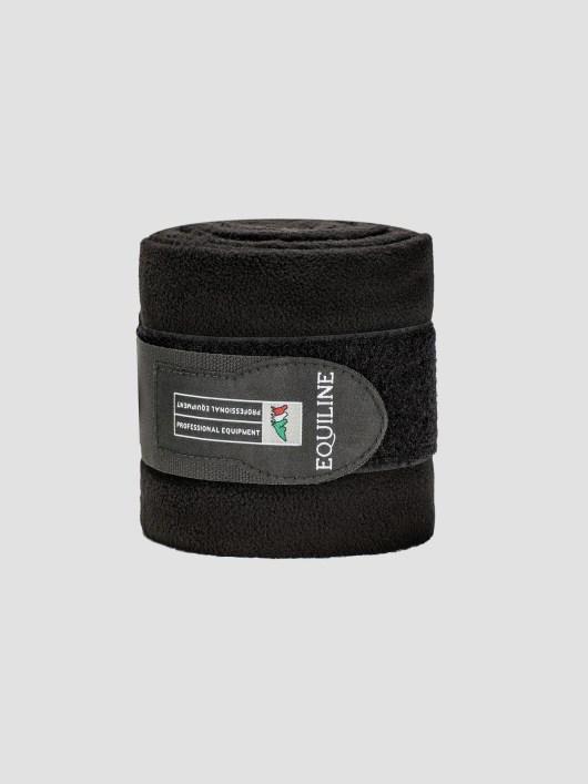 Equiline Fleece polo wraps in black