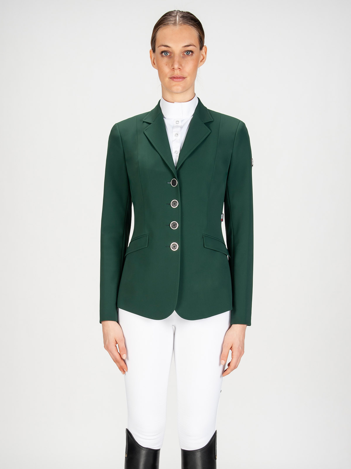 Gait women's show coat in X-Cool Evo performance fabric green