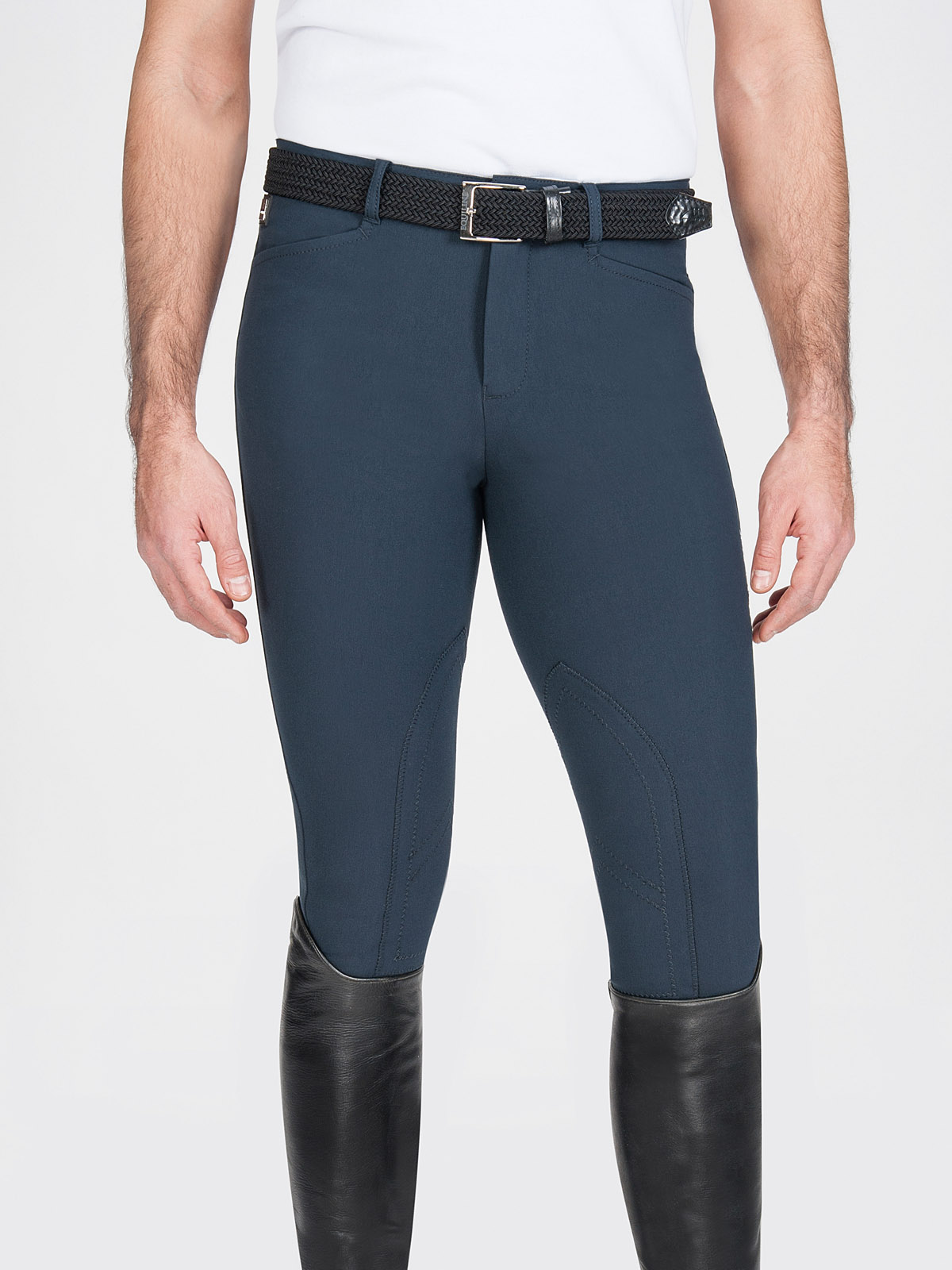Grafton men's knee patch riding breeches in blue