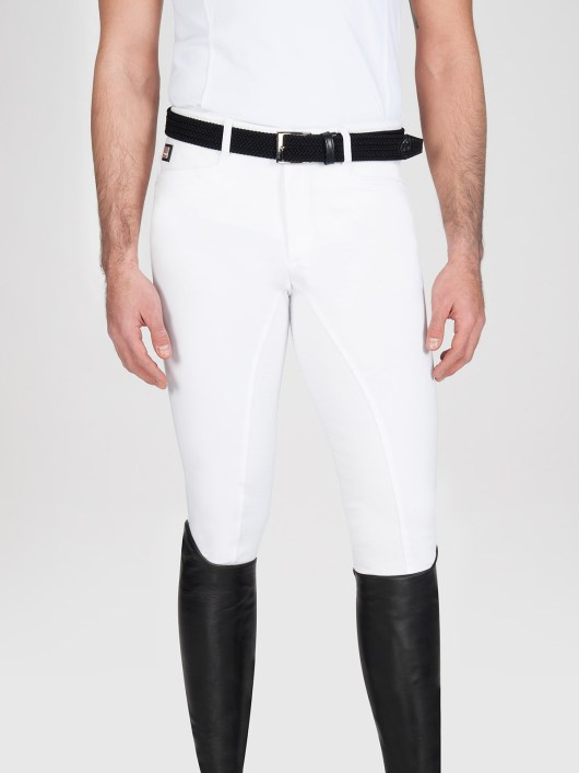 Equiline Men's full grip riding breeches Walnut