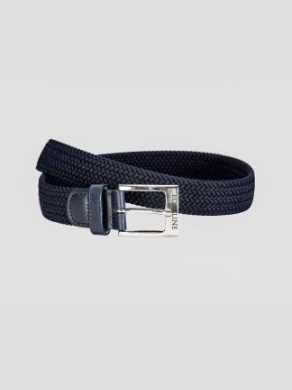 Equiline One braided elastic belt in black