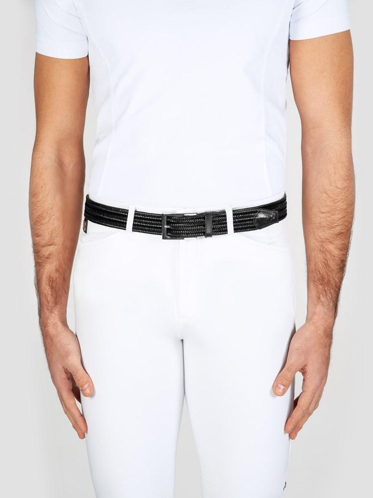 LOGAN - Elastic Unisex Belt in Leather 3