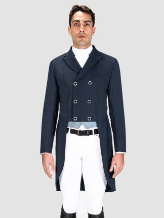 Equiline Canter Men's dressage tailcoat in blue
