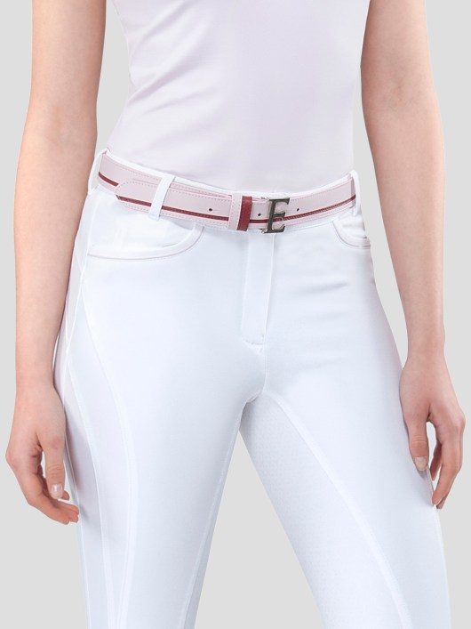 EROS LEATHER BELT WITH E BUCKLE 5