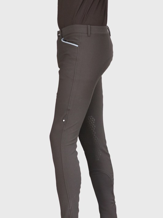 EDUARDO MEN'S KNEE GRIP BREECHES IN BLACK 4