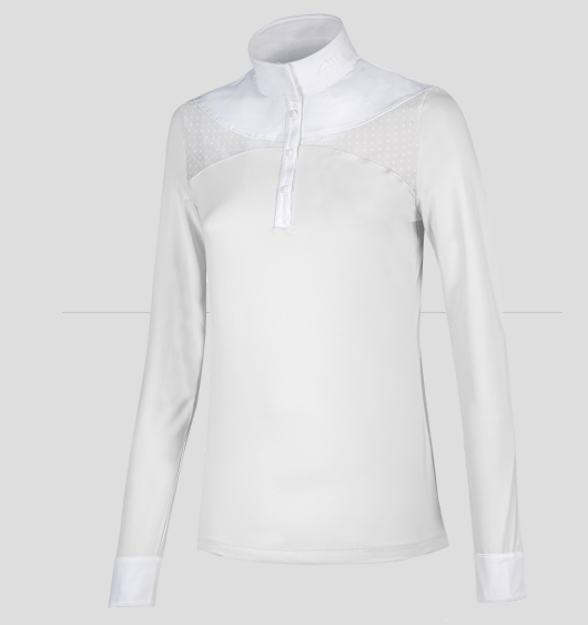 ELEONOR WOMEN'S LONG SLEEVE SHOW SHIRT WITH DOTS TRANSPARENCY 1