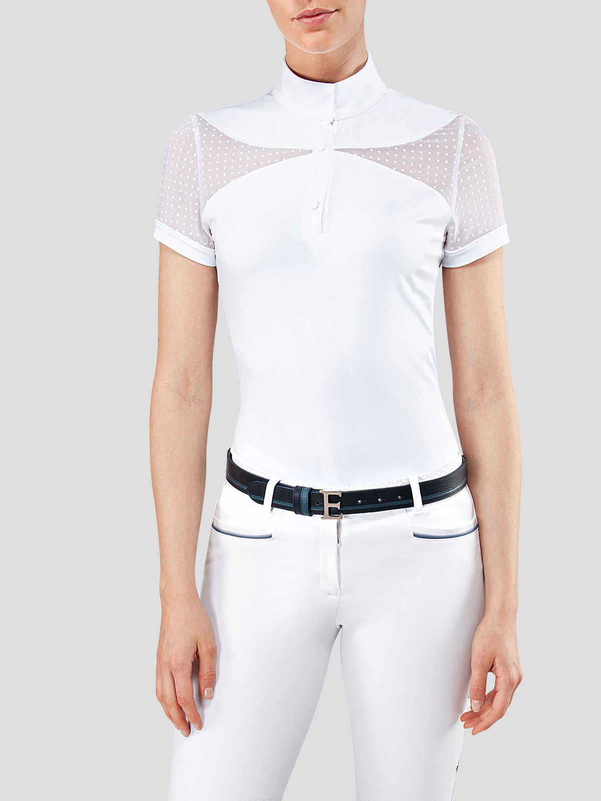 EDEN WOMEN'S SHOW SHIRT WITH DOTS TRANSPARENCY 1