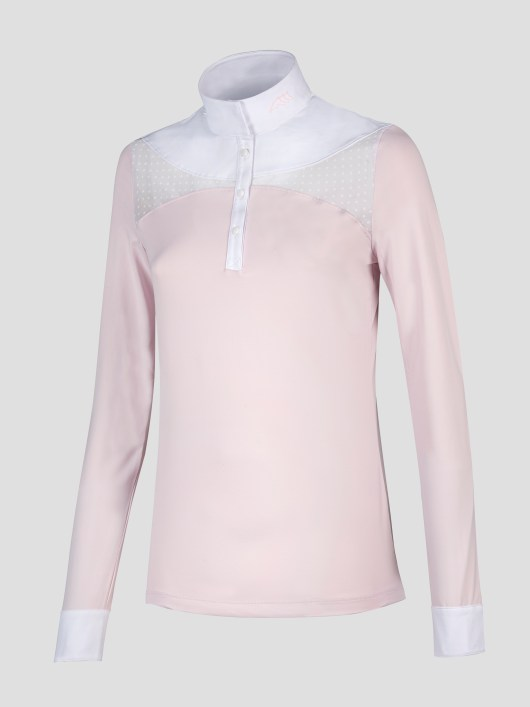 EQUILINE women's long sleeve show shirt in orchid pink