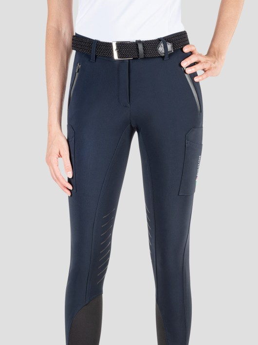 TEAM COLLECTION - WOMEN'S KNEE GRIP CARGO BREECHES IN B-MOVE #RIDERSTEAM 2