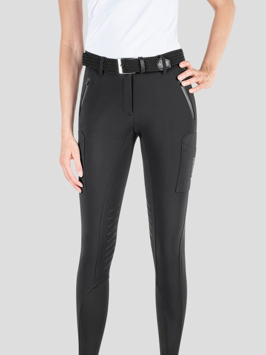 TEAM COLLECTION - WOMEN'S KNEE GRIP CARGO BREECHES IN B-MOVE #RIDERSTEAM 5